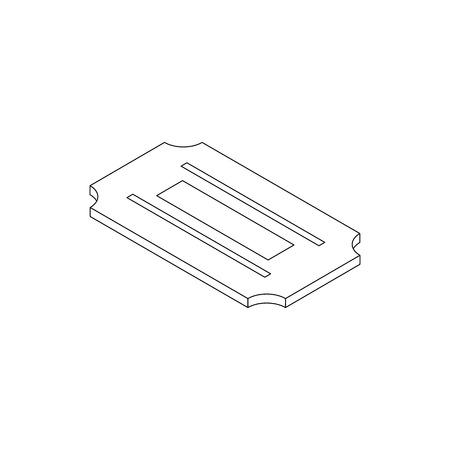 razor blade: Razor blade icon in isometric 3d style on a white background
