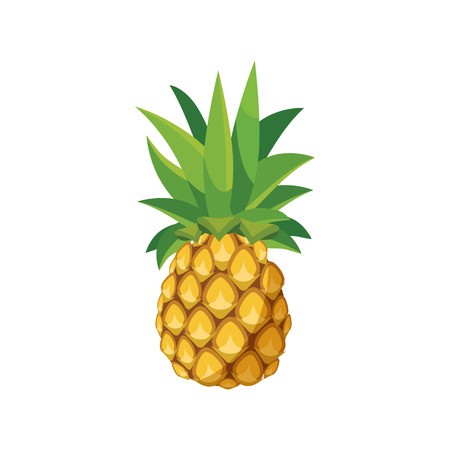 Pineapple icon in cartoon style on a white background Иллюстрация