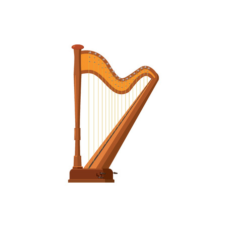royal person: Harp icon in cartoon style on a white background