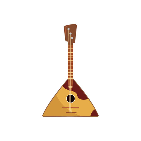 balalaika: Balalaika icon in cartoon style on a white background Illustration