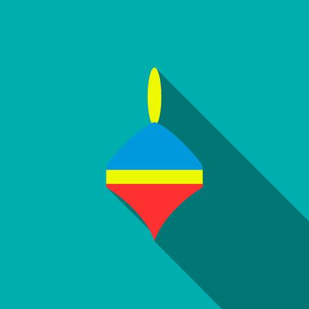 molinete: icono de perinola en estilo plana con una larga sombra. s�mbolo de los ni�os juguetes