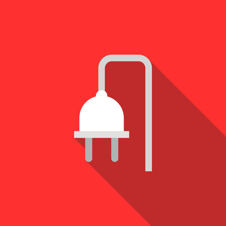 electrical plug: Electrical plug icon in flat style with long shadow