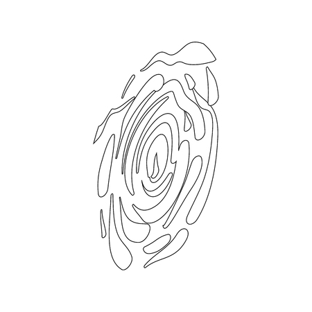 somebody: Fingerprint icon in isometric 3d style on a white background