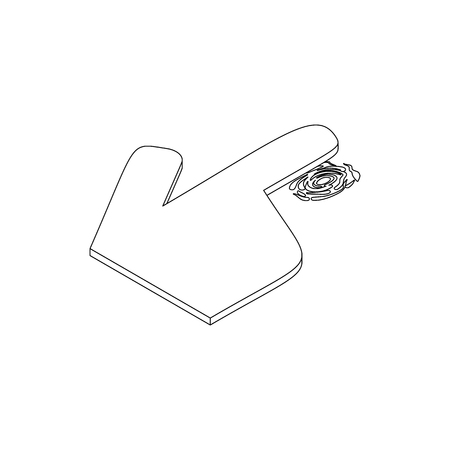 thumb print: Getting thumb print icon in isometric 3d style on a white background Illustration