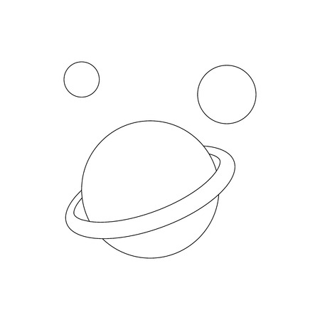 saturn planet: Saturn planet icon in isometric 3d style on a white background Illustration