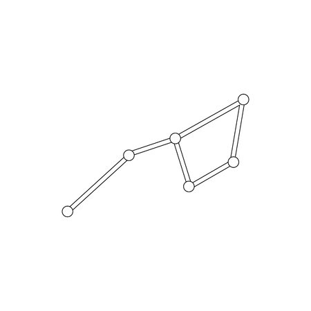 polaris: Ursa major constellation icon in isometric 3d style on a white background