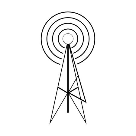 Drahtlose Verbindung Turm Vektor-Symbol In Goldenen Kreis, Cartoon ...
