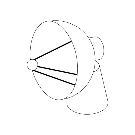 airwaves: Satellite dish antenna radar icon in isometric 3d style on a white background