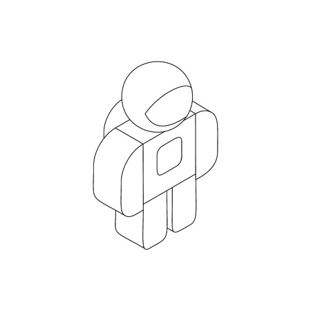 spacesuit: Astronaut in spacesuit icon in isometric 3d style on a white background