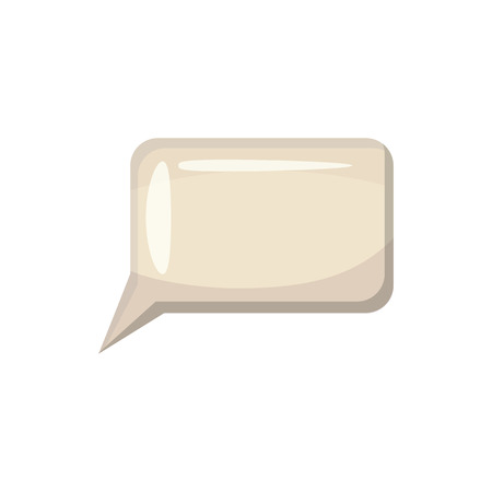 dialog baloon: Speech bubble icon in cartoon style on a white background Illustration