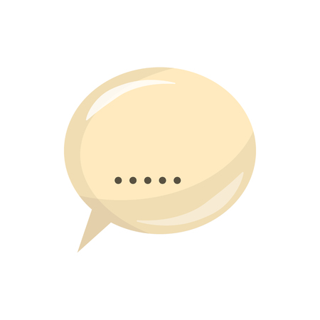 dialog baloon: Glossy speech bubble icon in cartoon style on a white background