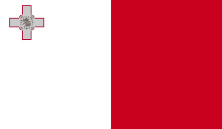 malta flag: Malta flag image for any design in simple style Illustration