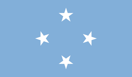 micronesia: Micronesia flag image for any design in simple style Illustration