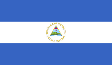 celebrities: Nicaragua flag image for any design in simple style