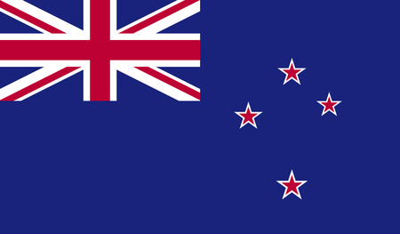 new zealand flag: New Zealand flag image for any design in simple style