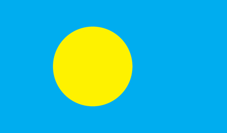 celebrities: Palau flag image for any design in simple style