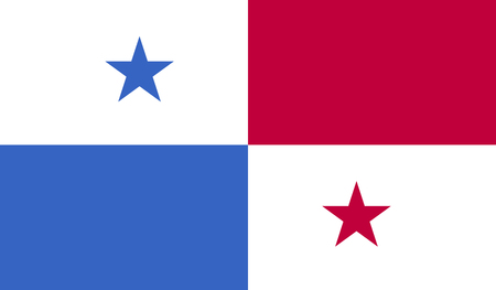 bandera panama: Panama flag image for any design in simple style Vectores
