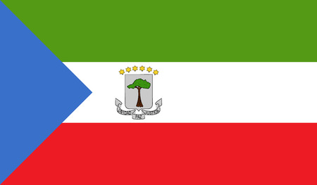 equatorial guinea: Equatorial Guinea flag image for any design in simple style Illustration