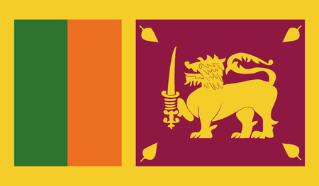 sri lanka: Sri Lanka flag image for any design in simple style Illustration