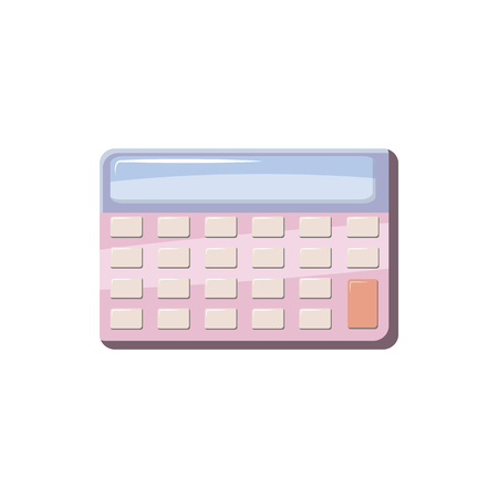 Calculator icon in cartoon style on a white background Illustration