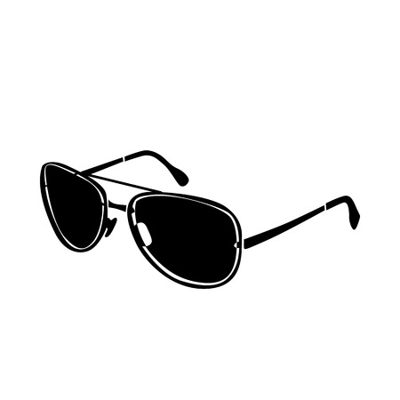 brutal: Brutal glasses icon in simple style isolated on white background. Accessories  symbol