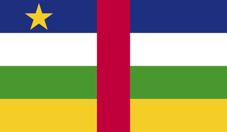celebrities: Central African Republic flag image for any design in simple style Illustration