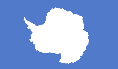 antarctica: Antarctica flag image for any design in simple style Illustration