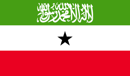 somaliland: Somaliland flag image for any design in simple style Illustration