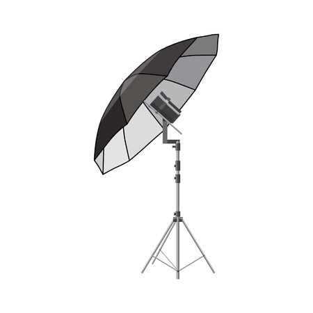 photo shooting: Umbrella for photography icon in cartoon style isolated on white background. Components for photo shooting symbol Illustration