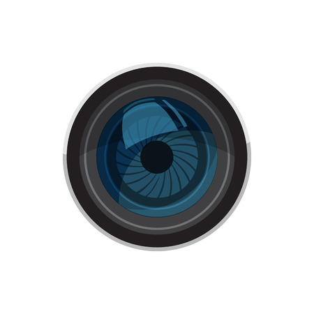 photo shooting: Lens for camera icon in cartoon style isolated on white background. Components for  photo shooting symbol