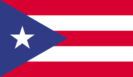 puerto rico: Puerto Rico flag image for any design in simple style