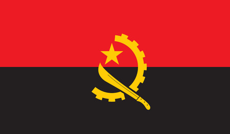 celebrities: Angola flag image for any design in simple style Illustration