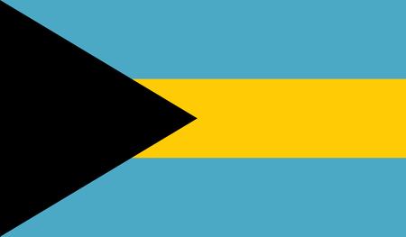 bahamas celebration: Bahamas flag image for any design in simple style