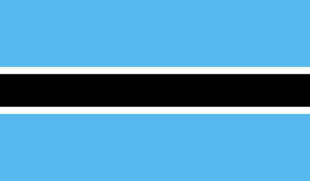 celebrities: Botswana flag image for any design in simple style