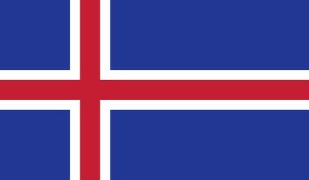 iceland flag: Iceland flag image for any design in simple style
