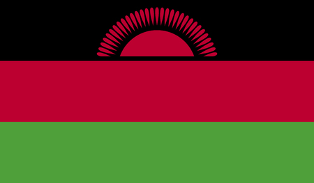 malawi flag: Malawi flag image for any design in simple style