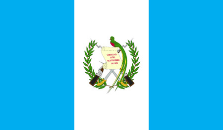 celebrities: Guatemala flag image for any design in simple style Illustration