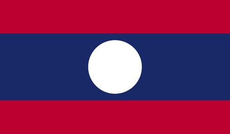 laos: Laos flag image for any design in simple style