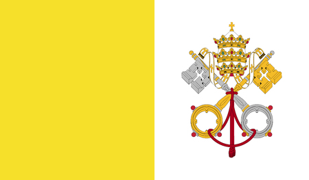 Vatican City flag image for any design in simple style