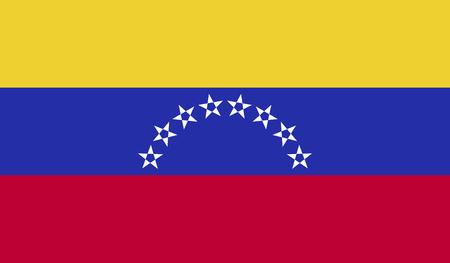 bandera de venezuela: Imagen bandera de Venezuela para cualquier diseño de forma sencilla Vectores