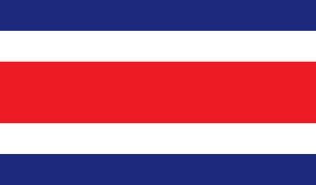 bandera de costa rica: Imagen de la bandera de Costa Rica para cualquier diseño de forma sencilla