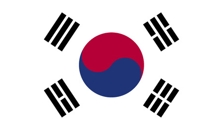 South Korea flag image for any design in simple style
