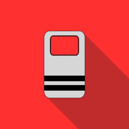 resignation: Riot shield icon in flat style on a red background Illustration