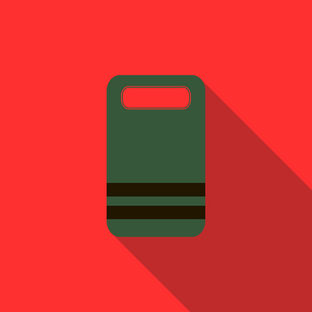 paintball: Paintball team badge icon in flat style with long shadow
