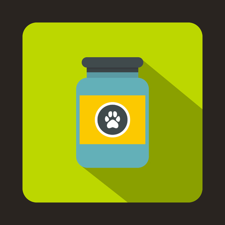 veterinary symbol: Treatment solution for animals icon in flat style with long shadow. Veterinary symbol