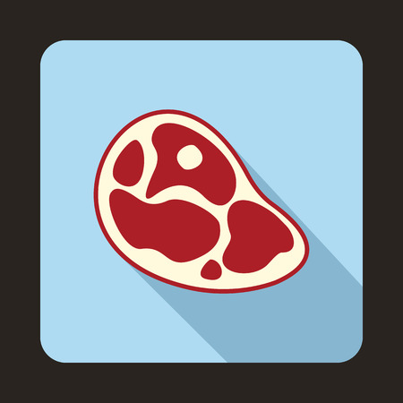 strip a cow: Steak Icon in flat style for any design