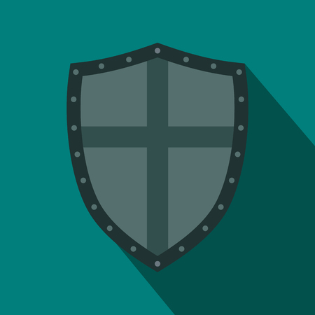 honour guard: Shield icon in flat style for any design