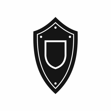 honor guard: Shield icon in simple style isolated on white background Illustration