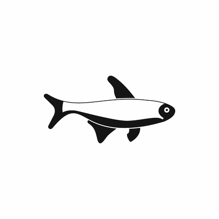 tang: Fish icon in simple style isolated on white background Illustration