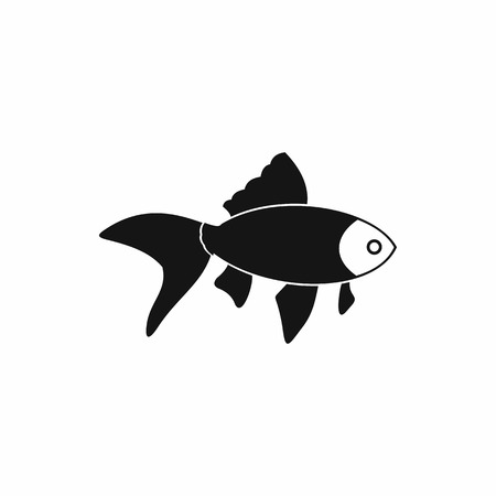 simple fish: Fish icon in simple style isolated on white background Illustration